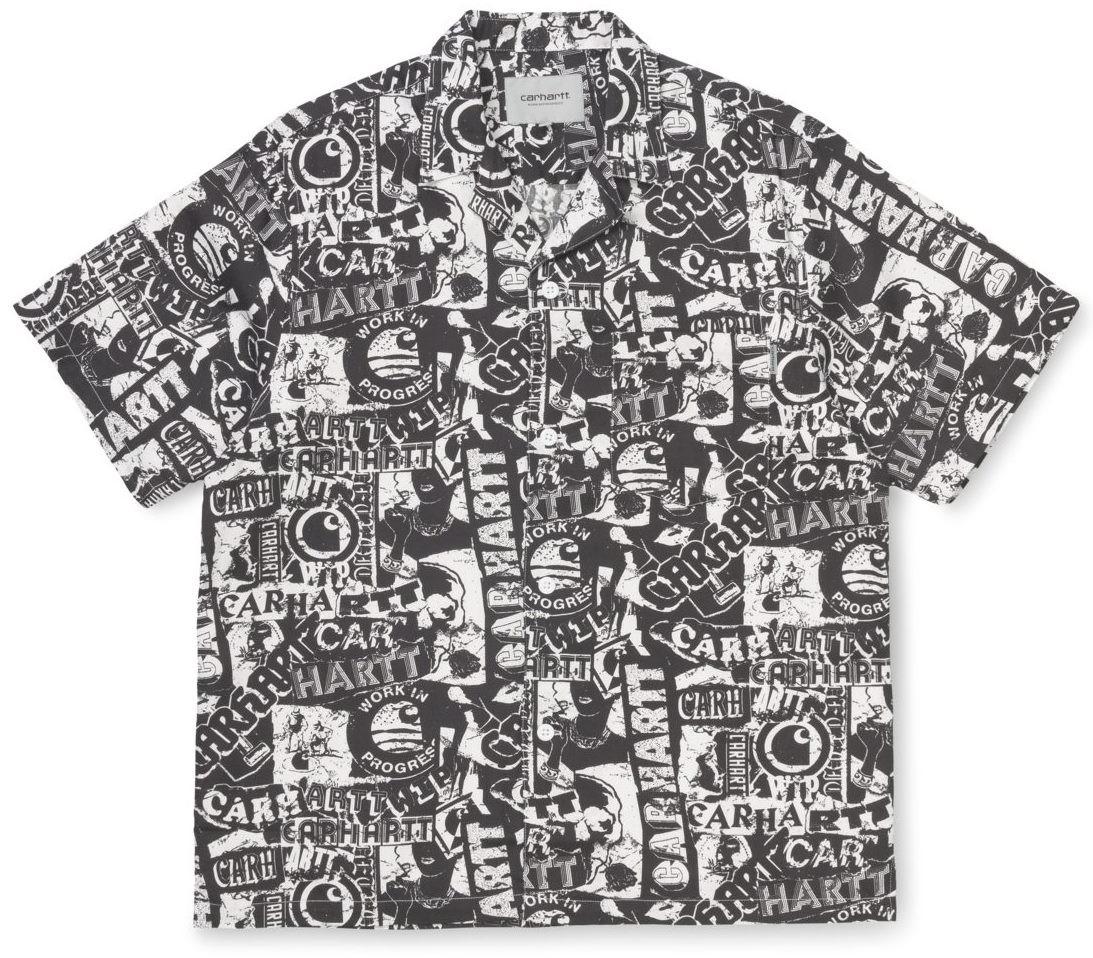 CARHARTT Herren Hemd Collage Shirt Collage Print / Black / White