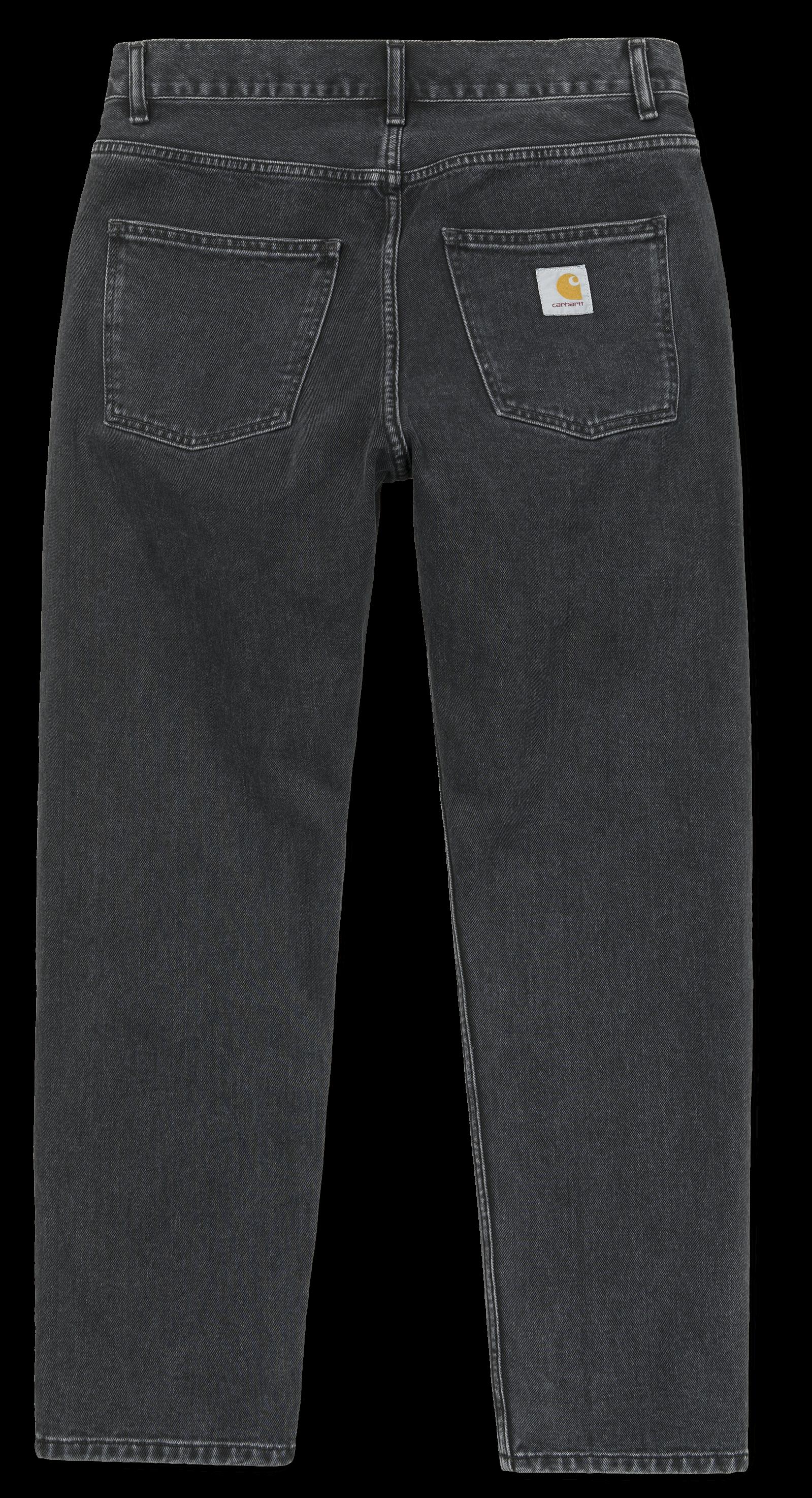 CARHARTT Herren Jeans Newel Pant Black Stone Washed