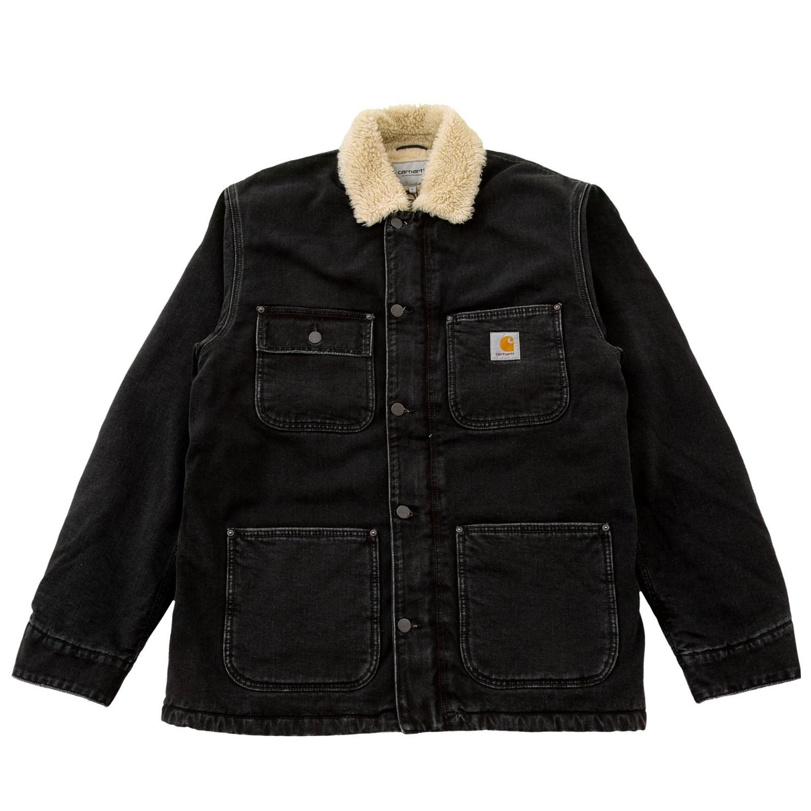 CARHARTT Herren Jacke Fairmount Coat Black Stone Washed
