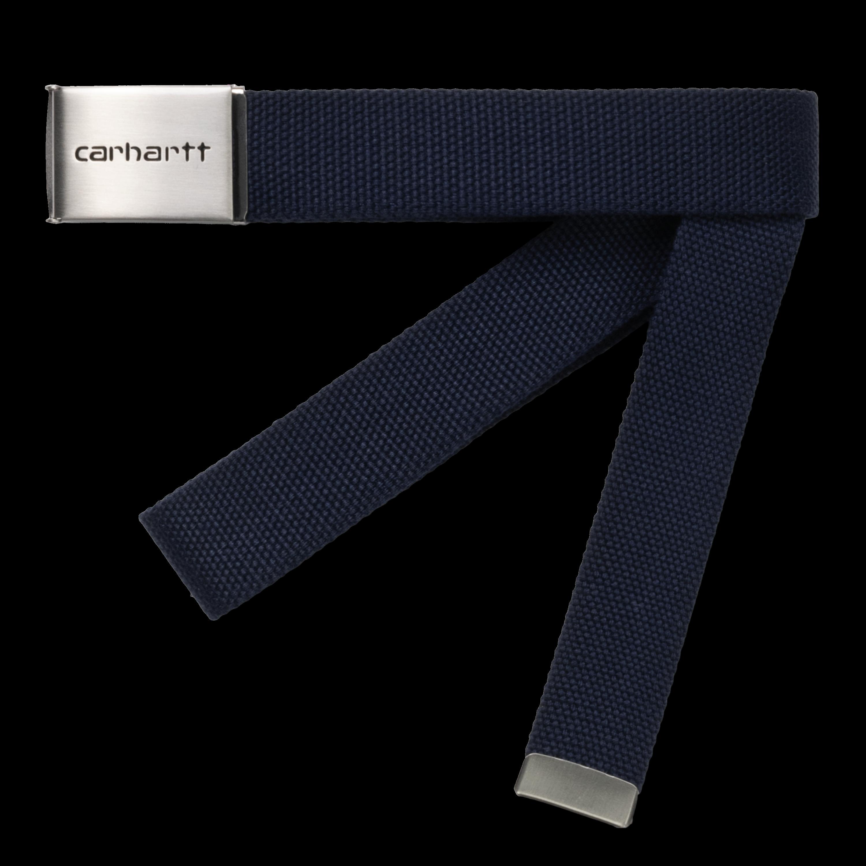 CARHARTT WIP Unisex Gürtel Clip Belt Chrome Dark Navy