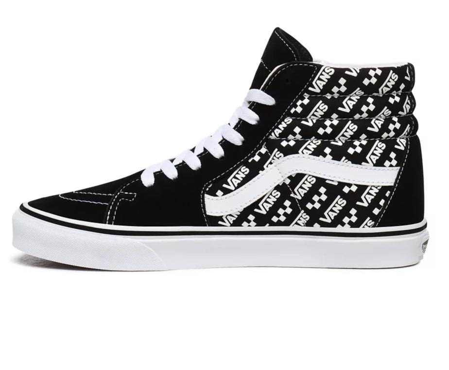 VANS Unisex Schuhe Sk8-Hi Logo Repeat Black/True white