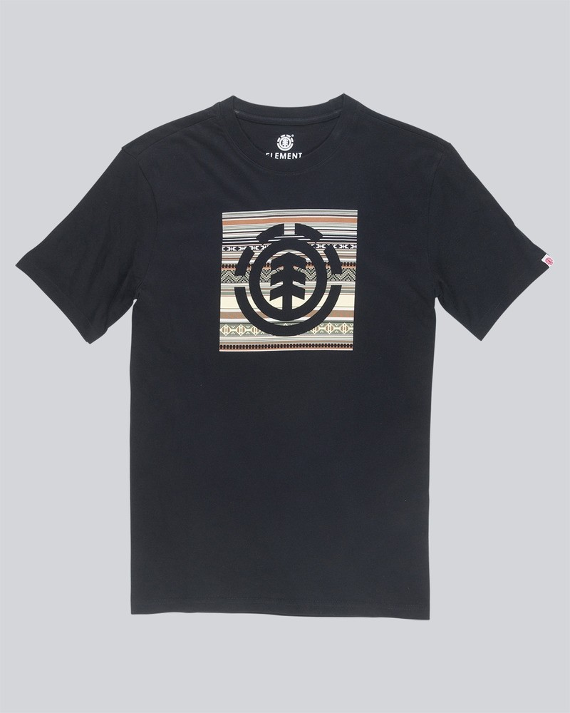 ELEMENT Herren T-Shirt Indiana Logo Block Flint Black