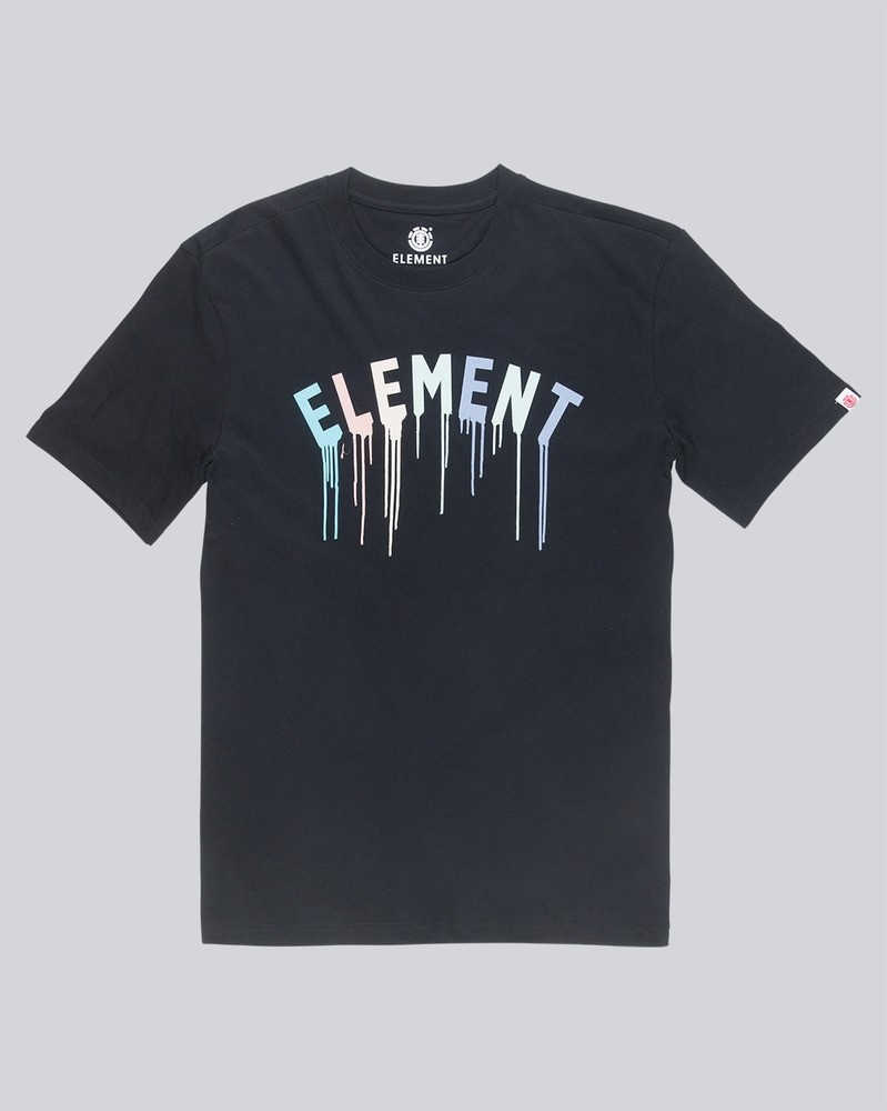 ELEMENT Herren T-Shirt Stencil Flint Black