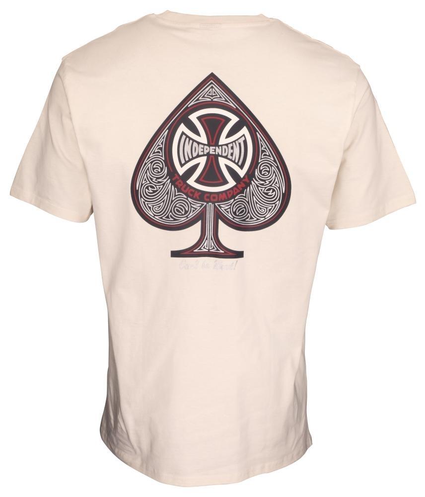 INDEPENDENT Herren T-Shirt Cross Spade Off White
