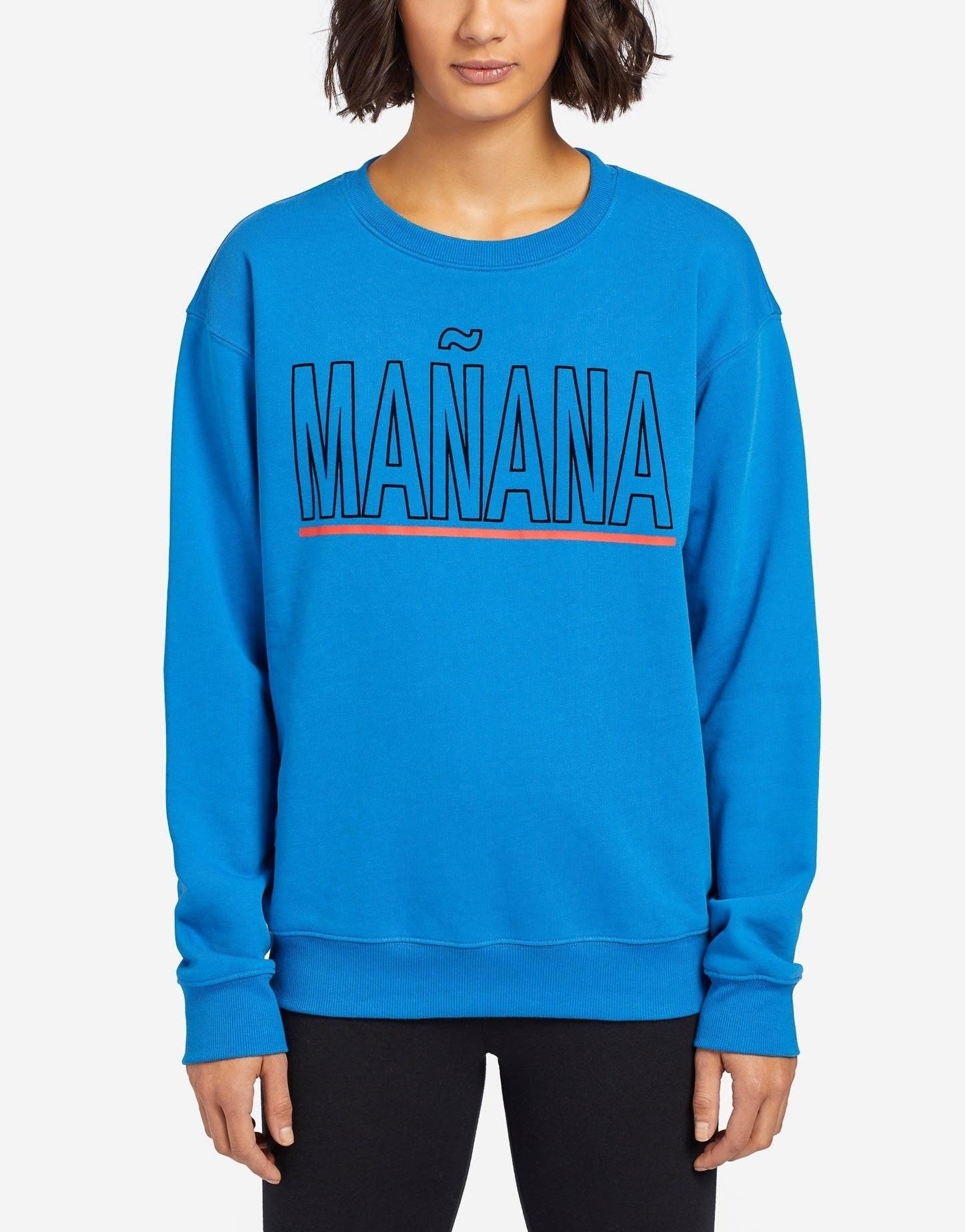 KHUJO Damen Sweatshirt Dylan Print Blau