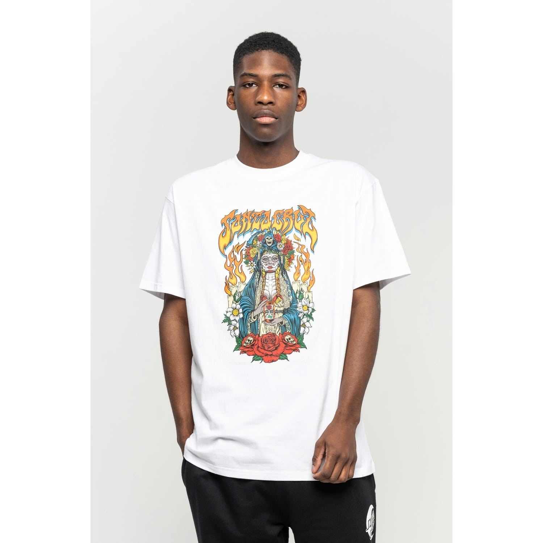 SANTA CRUZ Herren T-Shirt Santa Muerte White