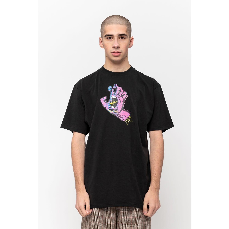SANTA CRUZ Herren T-Shirt Scales Screaming Hand T-Shirt Black