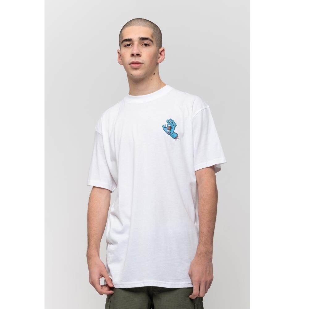 SANTA CRUZ Herren T-Shirt Screaming Hand Chest T-Shirt White