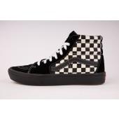 VANS Damen Schuhe Comfycush Sk8-Hi Mixed Media Antique White / Black