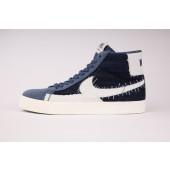 Nike SB Herren Schuhe Zoom Blazer Mid PRM Mystic Navy / Sail