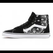 VANS Unisex Schuhe Sk8-Hi (Bandana) Black / True White