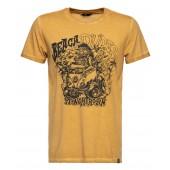 KING KEROSIN Herren T Shirt Oilwashed Beach Dudes Lime