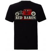 KING KEROSIN Herren T-Shirt Red Baron Black