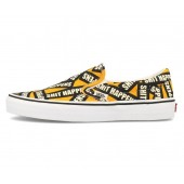 VANS Unisex Schuhe Slip-On (Shit Happens) Yellow / True White