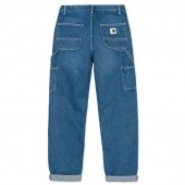 CARHARTT WIP Damen Hose Pierce Pant Blue Dark Stone Washed