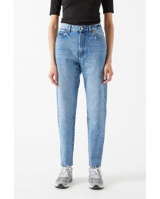 DR. DENIM Damen Hose Nora Blue Jay Worn Hem