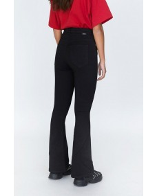 DR. DENIM Damen Jeans Moxy Flared Black