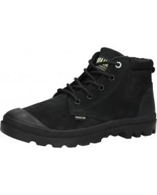PALLADIUM Damen Schuhe Pampa Low Cuff Black / Green Sheen