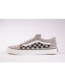 VANS Unisex Schuhe Old Skool (CHKRBRDSPLT) Drizzle / Black / True White