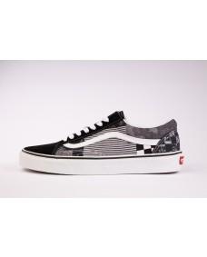 VANS Unisex Schuhe Old Skool  (PATCHWORK) Black / Multi / True White