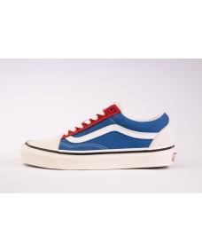 VANS Unisex Schuhe Old Skool 36 DX (ANAHEIMFCTY) White / Blue / Red