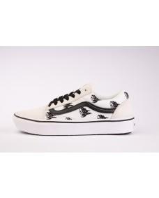 VANS Unisex Schuhe ComfyCush Old Skool (SIXTY SIXERS) Blanc / White