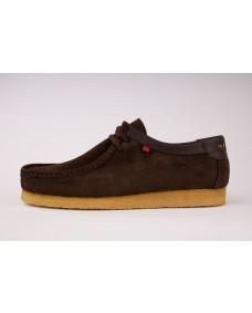 GENESIS Herren Schuhe Low Dark Brown