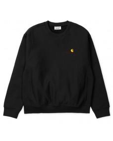 CARHARTT WIP Herren Sweatshirt American Script Black