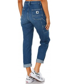 CARHARTT Damen Hose W' Pierce Pant Blue Dark Stone Washed