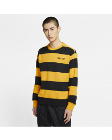 Nike SB Herren Sweater Skate Crew Sweater University Gold / Black