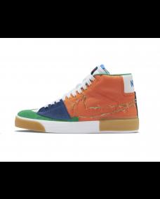 Nike SB Herren Schuh Zoom Blazer Mid Edge L Safety Orange / Lucky Green