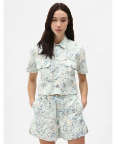 DICKIES Damen Hemd Sunburg Shirt Fog Blue