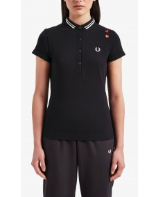 FRED PERRY Damen Polo-Shirt Amy Fred Perry Shirt Black