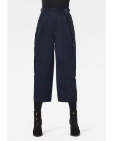 G-STAR Damen Hose 3D Wide Crop Pant Naval Blue