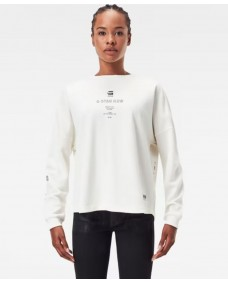 G-STAR Damen Sweatshirt Multi Relaxed Milk