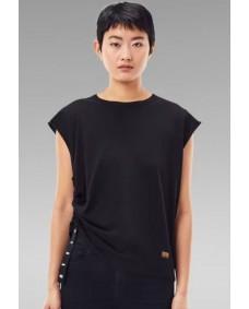 G-STAR Damen T-Shirt Knot Cap Dark Black