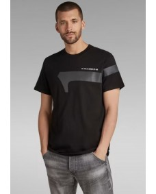G-STAR Herren T-Shirt Reflective Graphic Dark Black