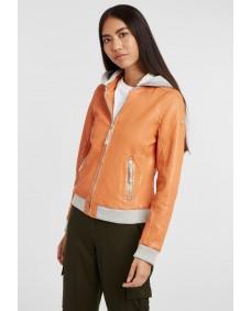 GIPSY Damen Lederjacke Moxi Blouson Used Orange
