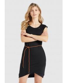 KHUJO Damen Kleid Cajsa Black
