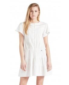 KHUJO Damen Kleid Kapua White
