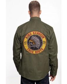KING KEROSIN Herren Funktions-Hemdjacke Indian Rider Olivine