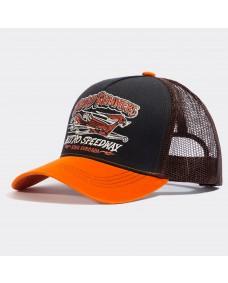 KING KEROSIN Herren Snapback Road Runners Brown / Orange