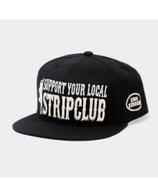 KING KEROSIN Herren Snapback Support Your Local Stripclub Black