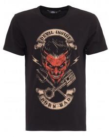 KING KEROSIN Herren T-Shirt Devil Inside Black