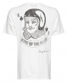 KING KEROSIN Herren T Shirt F&B Playcard King Offwhite