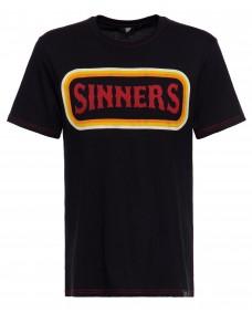 KING KEROSIN Herren T Shirt Sinners Fuck You All Black