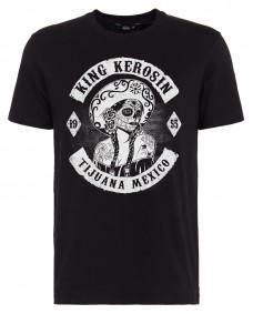 KING KEROSIN Herren T-Shirt Tijuana Mexico Black