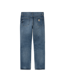 CARHARTT WIP Herren Hose Pontiac Pant Blue Mid Worn Wash