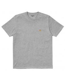 CARHARTT WIP Herren T-Shirt Chase Grey Heather / Gold