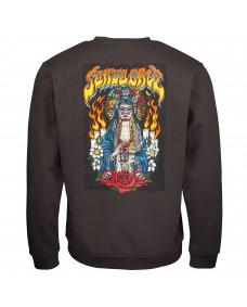SANTA CRUZ Herren Sweatshirt Santa Muerte Crew Washed Black